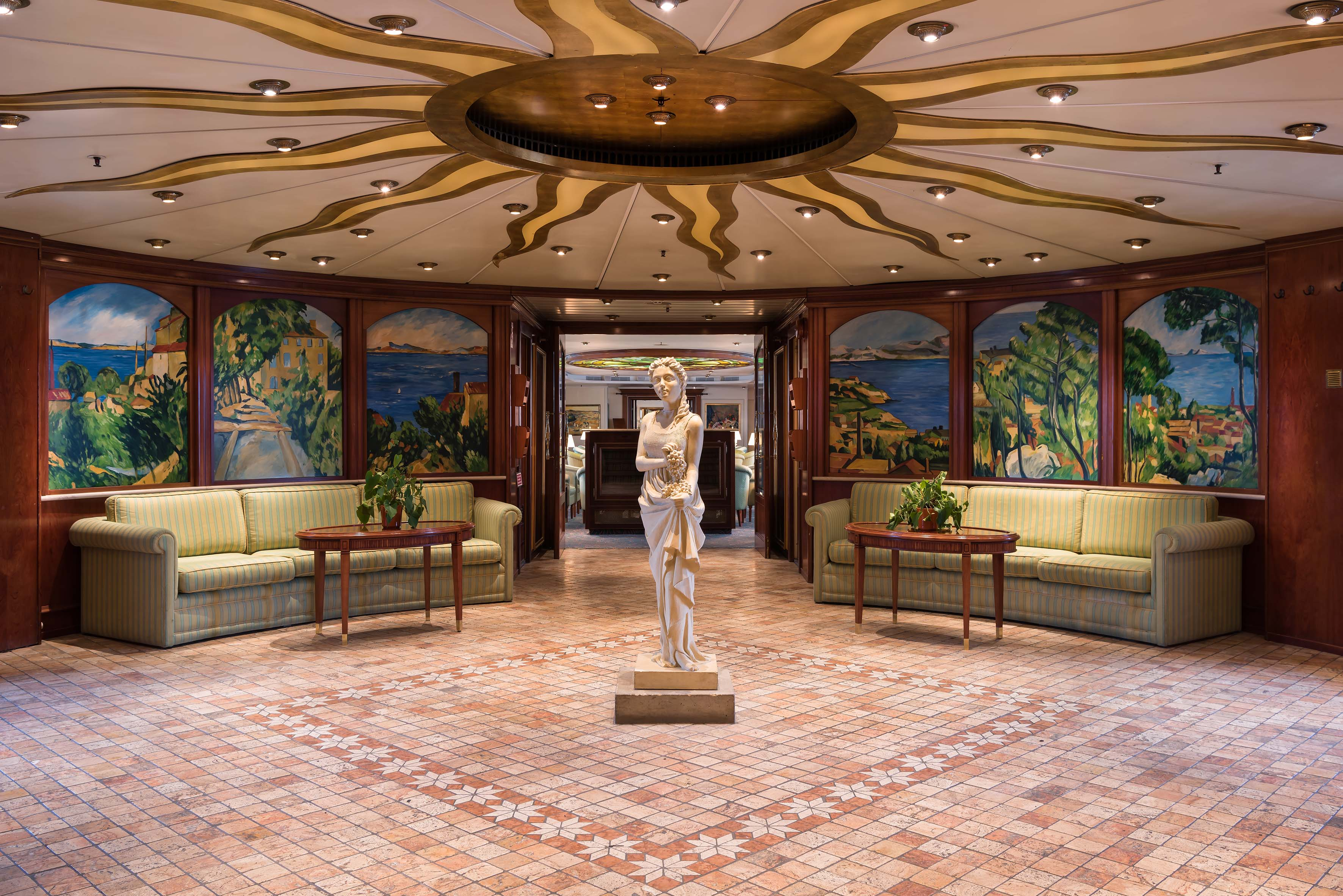 hal hotelschip MS Cezanne, Düsseldorf